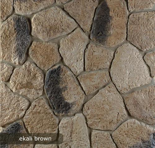 vonkajsi, vnutorny obklad ekali brown