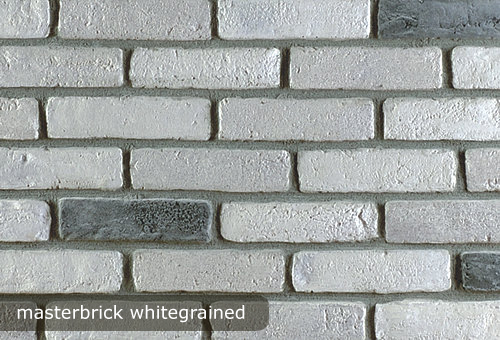 tehla, tehlovy obklad masterbrick white grained