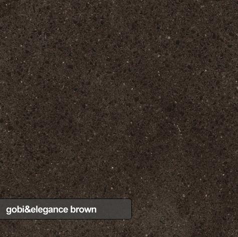 kuchynske dosky, parapety, obklady dlazby technistone gobi and elegance brown